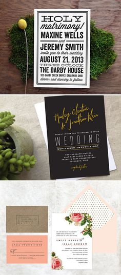 Whatever your stationery style, get some invitation inspiration with this Etsy Blog feature on paper goods designer Alaina Cherup of Cheer Up Press. #etsyweddings