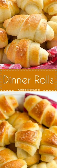 Dinner Rolls - delicious, light, soft and warm! Very easy to make! Dinner Rolls - this recipe has been a favorite recipe for years! My Recipes, Bread Recipes, Baking Recipes, Favorite Recipes, Recipies, Boite A Lunch, Baked Rolls, Dinner Rolls Recipe, Yeast Rolls