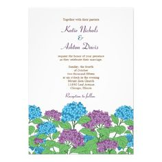 ShoppingLilac & Blue Hydrangeas Spring Wedding InvitationThis site is will advise you where to buy