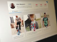 Profile page by Kim Wouters