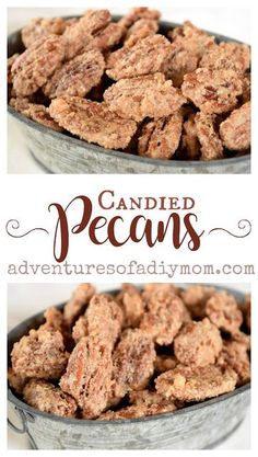 Pecans Recipe Perfectly crunchy, sweet and delicious candied pecans. Find the recipe for this easy make-ahead Christmas treat.Perfectly crunchy, sweet and delicious candied pecans. Find the recipe for this easy make-ahead Christmas treat. Candied Pecans Recipe, Glazed Pecans, Roasted Pecans, Sugared Pecans, Appetizer Recipes, Snack Recipes, Dessert Recipes, Candy Recipes, Appetizers