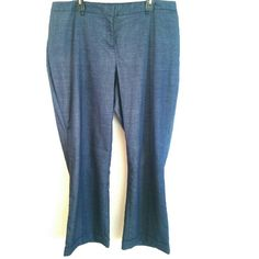"""Lane Bryant Blue Trousers / Dress Pants Size 20 These Lane Bryant Blue Trousers / Dress Pants are a Size 20 in great used condition. I wore them twice to work. It took me a long time to find some great blue pants to wear with navy or red! These were just a hair too short with my heels. The inseam is 30 inches. Waist measures 21 inches across, so 42 inches around. Not stretchy. IMO: Best for someone under 5'7"""" but do note the inseam measurement to be sure. ::: Bundle 3+ items from my closet…"""