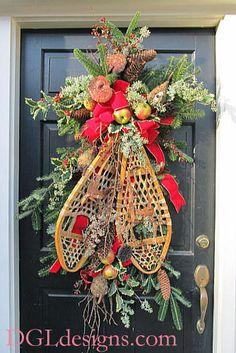 Déco de Noël avec raquettes...