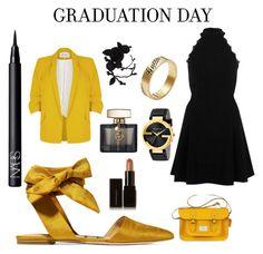 """Graduation day"" by khawlaalshehhi ❤ liked on Polyvore featuring Sam Edelman, River Island, NARS Cosmetics, Illamasqua, olgafacesrok and Gucci"