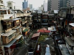Poor People and Slums in Japan Japan Landscape, City Landscape, Landscape Photos, Kowloon Walled City, City Aesthetic, Urban Aesthetic, Urban Photography, Street Photography, Background Drawing
