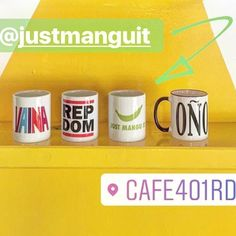 Los coffee mugs en @cafe401rd  #justmanguit #coñomug #vaina #repdom