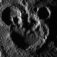 NASA's Messenger probe has found Mickey Mouse on Mercury. Messenger has already transmitted more than 100,000 other images, so perhaps Pete is up there somewhere too. Pete's my favorite. (Los Angeles Times)