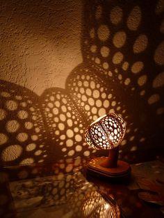Echinushandmade lampspumpkinunique lampshadefairy by FireflyGourd