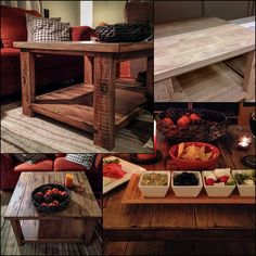 IKEA Rekarne wooden coffee table make-over