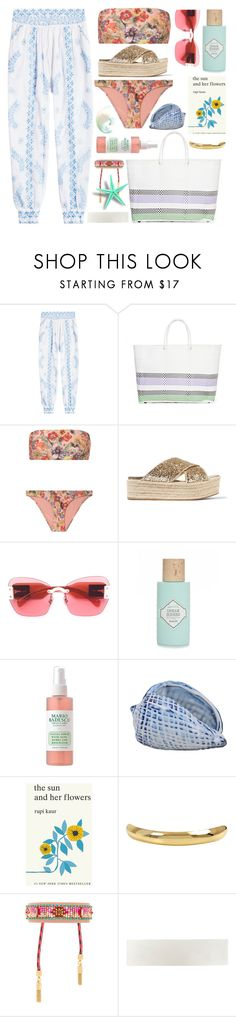 """salty"" by gabrielleleroy ❤ liked on Polyvore featuring Juliet Dunn, TRUSS, Zimmermann, Miu Miu, Benefit, Simon & Schuster, Charlotte Chesnais, Rebecca Minkoff and CA&LOU"