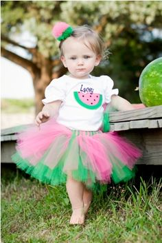 Image detail for -Pink and Green Watermelon Tutu Outfit-summer pictures, watermelon ...