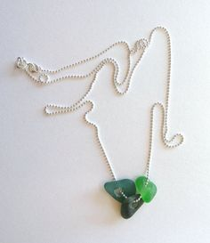 Colliers de verre Beachglass sur chaine en par JewelryByMaeBee