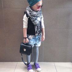 Little hipster girl