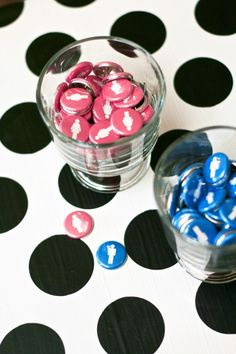 Baby Gender Reveal Party Buttons Pins #genderreveal