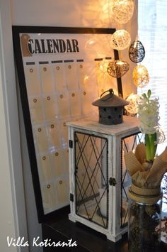 / DIY: Calendar, which can be used year after year! Diy Calendar, Liquor Cabinet, Canning, Storage, Furniture, Home Decor, Purse Storage, Homemade Home Decor, Larger