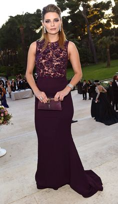 Glam at amfAR! Every Gown and Glittering Jewel at the Gala | People - Mischa Barton in a purple lace dress