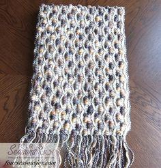 OOAK Handmade Knitted Luxury Wool Scarf Brown by FourSeasonsJoy