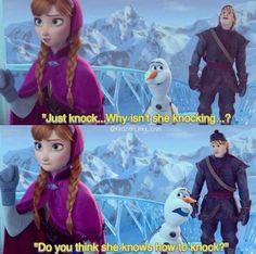 Olaf.....haaahahahahahaha adorable.
