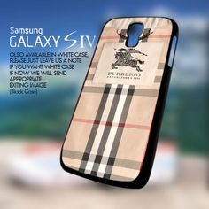 Burberry Pattern Design for Samsung Galaxy S4 Case cover