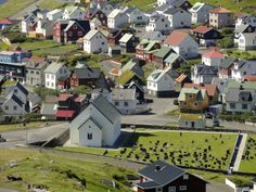 A very picturesque town, Klaksvik, in the Faroe Islands.