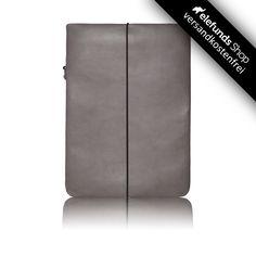 #Vandebag - #Notebook Skin - grau - echtes Rinderleder und handgefertigt - 99,00€ - Versand kostenlos