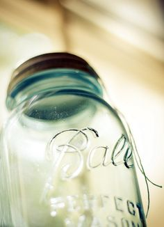 I admit.  I have an unnatural obsession with all things Mason Jar.