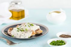 Simple Skillet Chicken Breasts With Creamy Parmesan Sauce