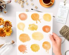 Watercolor circles clipart round watercolor clipart circles