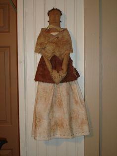 Faith - Primitive Doll with Vintage Gown