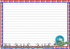 Columbus Day Themed lined paper and page border.  Download for FREE at:  http://www.sharemylesson.com/teaching-resource/Columbus-Day-Themed-Lined-Paper-and-Pageborders-50013811/