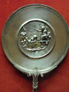 Silver mirror from Pompeii (79 AD) - Naples Archaeological Museum  #TuscanyAgriturismoGiratola