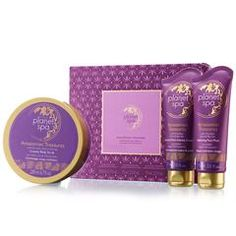 Planet Spa Amazonian Treasures 3-Piece Gift Set    A gift of Luxury to give for Mother's Day!  Free Exfoliating Sponge with (2) Planet Spa Purchases! To shop, go to:   http://www.youravon.com/mferguson1172