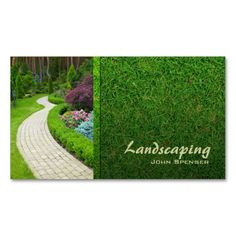 Landscaping Lawn care Gardener business card