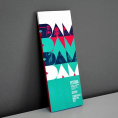 DAM FESTIVAL // VISUAL IDENTITY by projectGRAPHICS , via Behance