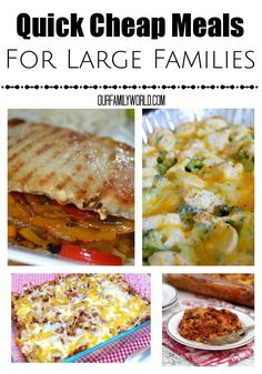 We love these quick cheap meals for large families. Not only are they delicious, they fit into your budget easily.