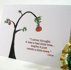 Charlie Brown Christmas card
