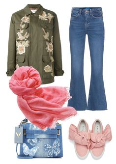 Spring Layers with Beyond Scarf Spring Trends, Streetwear Brands, Style Ideas, Valentino, Scarves, Luxury Fashion, Layers, Jeans, Polyvore