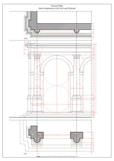 Tuscan Intercolumniation with Arch and Pedestal