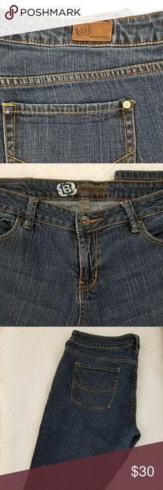 BULLHEAD DENIM CAPRIS Bullhead 5 pocket denim capris. 99%cotton, 1%spandex. Inseam 15 3/4, rise 8 3/4 in. Hips 20 3/4 in. Bullhead Jeans