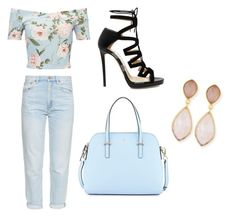 """Untitled #119"" by zeyneb-mess ❤ liked on Polyvore featuring M.i.h Jeans, Miss Selfridge, Dina Mackney, Jimmy Choo and Kate Spade"