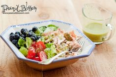 """What's your favorite salad for summer? I love this random mix in the """"Everything but the kitchen sink"""" salad. This is an awesome warm weather dish perfect for customizing with the kids. Serve the ingredients buffet style and let everyone mix their own!"""