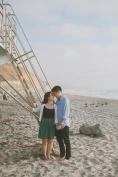 San Diego Beach Engagement Session from Day 7 Photography. See more on SMP: http://www.StyleMePretty.com/california-weddings/san-diego/2014/03/14/san-diego-beach-engagement-session/