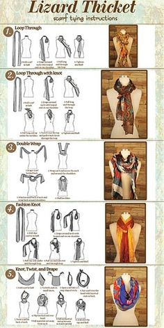 Scarf Tying Instructions...