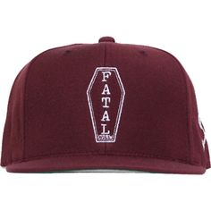 Inked Boutique - Fatal Pine Box Snapback Hat Burgundy Coffin Logo  Streetwear www.inkedboutique. 6fb8f67a5c6d