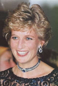 June 5, 1995: Princess Diana at a Gala in Cardiff, Wales.