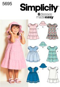 Simplicity pattern 2228: It's So Easy Child's sleeveless dress ...