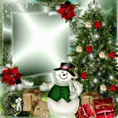 Christmas tree frame by Alma50. Click through to add a photo and ...