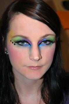 DIY Halloween Makeup : halloween  peacock