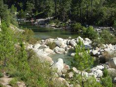 RIVIERE DE SOLENZARA. A 1 h 35 min du camping (67,4 km) par la D759, D368 et D268 direction Zonza et Solenzara. Vous pouvez aussi y accéder plus rapidement par la RN198 et la D268 direction Nord en sortant du camping (à 50 min / 44,4 km). SOLENZARA RIVERS. 1 h 35 mins from the camping (67.4 km) driving towards Zonza and Solenzara on the D759, D368 and D268. You can get there faster by taking the RN198 northbound and the D268 (50 min / 44.4 km). #campinglavetta #camping #corse #corsica