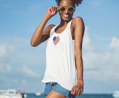 Love Your World - Eco-friendly 4th of July Tank Top